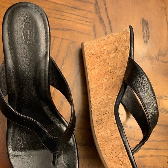 UGG Shoes - Uggs wedge size 10